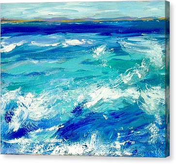 Expressive Sea  Canvas Print by JC Strong