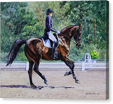 Extended Canter Canvas Print by Kristine Plum