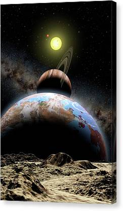Extrasolar Planetary System Canvas Print by Lynette Cook