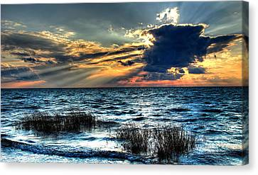 Extreme Sunset - Outer Banks Canvas Print by Dan Carmichael
