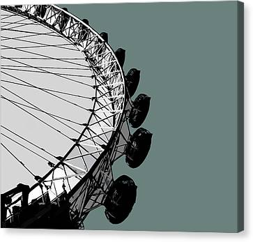 Eye - Blue Grey Canvas Print by Big Fat Arts