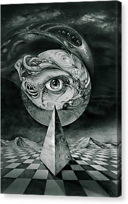 Eye Of The Dark Star Canvas Print by Otto Rapp