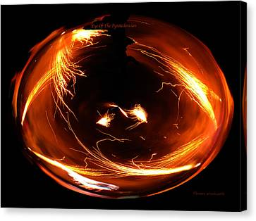 Eye Of The Pyrotechnician Canvas Print by Thomas Woolworth