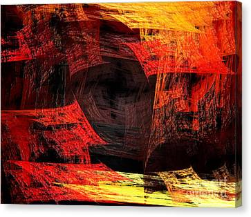 Eye Of The Storm 2 - Blown Away - Abstract - Fractal Art Canvas Print by Andee Design