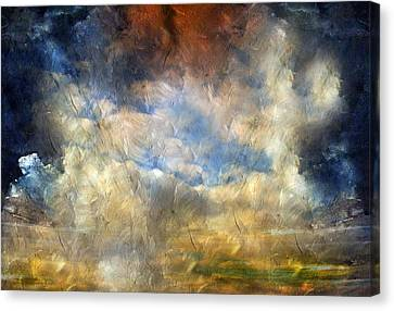 Eye Of The Storm  - Abstract Realism Canvas Print by Georgiana Romanovna