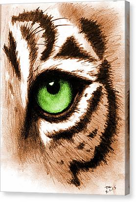Eye Of The Tiger Canvas Print by Michelle Eshleman