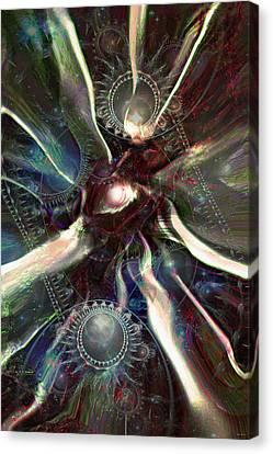 Eye Of The Universe Canvas Print by Linda Sannuti