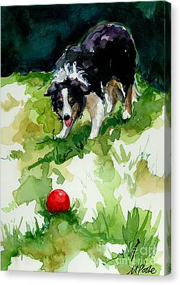 Eye On Tthe Ball Canvas Print by Molly Poole