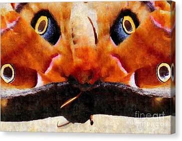 Eye On You - Silk Paint Canvas Print by Anita Faye
