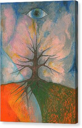 Eye Canvas Print by Wojtek Kowalski