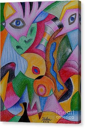 Eyes By Taikan Canvas Print by Taikan Nishimoto
