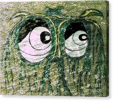 Eyes Green Forest Canvas Print by Yury Bashkin