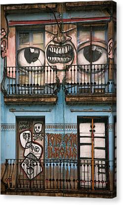 Eyes Of Barcelona Canvas Print by Joanna Madloch