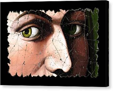 Eyes Of Bindo Altoviti Canvas Print by Steve Bogdanoff