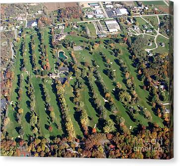 F-016 Far View Golf Course Fall Oshkosh Wi Canvas Print by Bill Lang