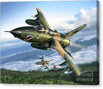 F-105g Wild Weasels Canvas Print by Stu Shepherd