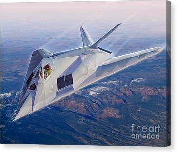 F-117 The Dragon Canvas Print by Stu Shepherd