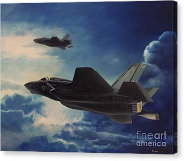 F-35b Lightening II Canvas Print by Stephen Roberson