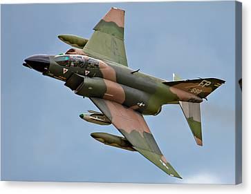F-4 Phantom II Canvas Print by Bill Lindsay