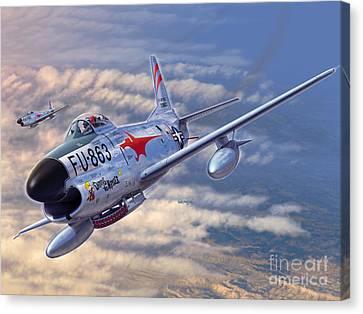 F-86d All Weather Menace Canvas Print by Stu Shepherd