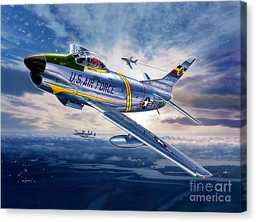 F-86d Sabre Dog Canvas Print by Stu Shepherd