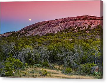 F8 And Be There - Enchanted Rock Texas Hill Country Canvas Print by Silvio Ligutti