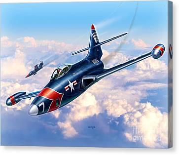 F9f-5p Photo Panthers Canvas Print by Stu Shepherd