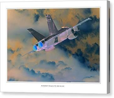 Fa-18d Hornet Canvas Print by Larry McManus