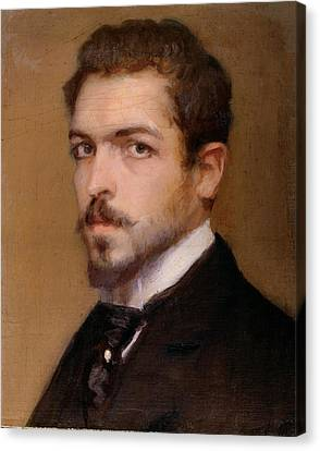 Fabbri Paolo Egisto, Self-portrait Canvas Print by Everett