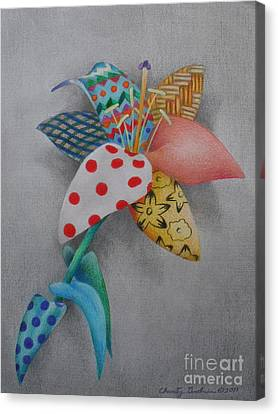 Fabric Lily Canvas Print by Charity Goodwin