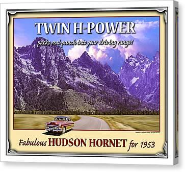 Fabulous Hudson Hornet For 1953 Canvas Print by Ed Dooley