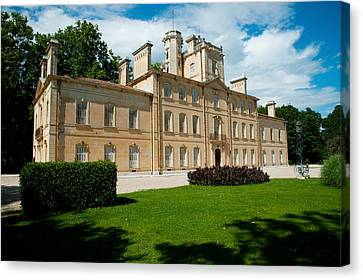 Facade Of A Building, Chateau Davignon Canvas Print by Panoramic Images