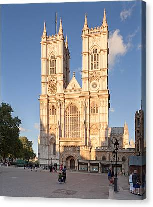 Facade Of A Cathedral, Westminster Canvas Print by Panoramic Images