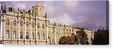 Facade Of A Palace, Winter Palace Canvas Print by Panoramic Images