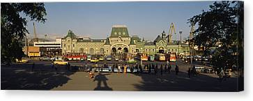 Facade Of A Railroad Station Canvas Print by Panoramic Images