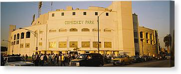 Facade Of A Stadium, Old Comiskey Park Canvas Print by Panoramic Images