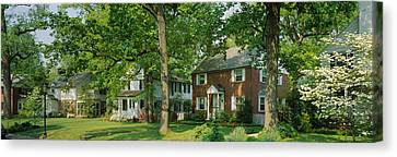 Facade Of Houses, Broadmoor Ave Canvas Print by Panoramic Images