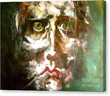 Face Series 2 Canvas Print by Michelle Dommer