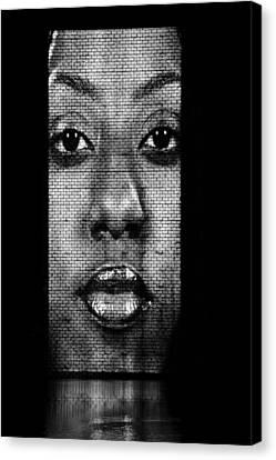 Face To Face - Crown Fountain Chicago Canvas Print by Christine Till