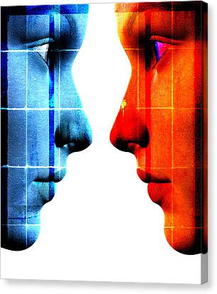 Face To Face Canvas Print by David Ridley
