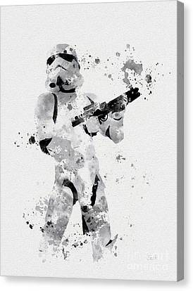 Faceless Enforcer Canvas Print by Rebecca Jenkins