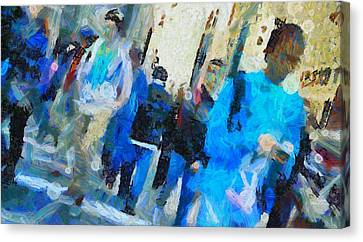 Faces In The Street Canvas Print by Dan Sproul