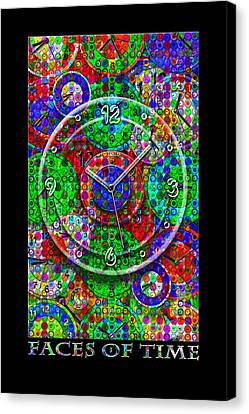 Faces Of Time 3 Canvas Print by Mike McGlothlen