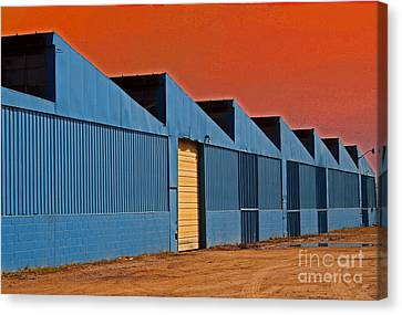 Factory Building Canvas Print by Karen Adams