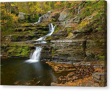 Factory Falls Canvas Print by Mark Robert Rogers