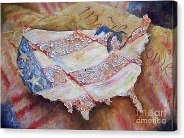Faded Glory Canvas Print by Deborah Smith