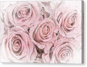 Faded Roses Canvas Print by Jane Rix