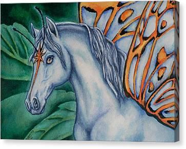 Faery Horse Star Fyre Canvas Print by Beth Clark-McDonal
