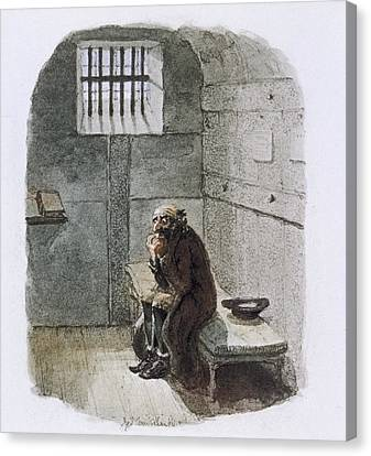 Fagin In Prison Canvas Print by British Library