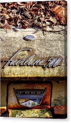 Fairlane 500 In The Woods Canvas Print by Greg Mimbs